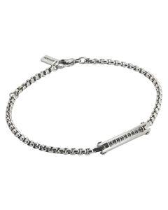 Bracelet with steel links and zircons