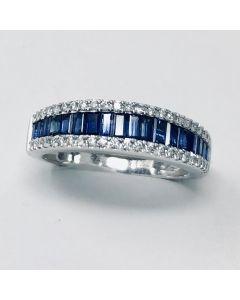 Anello con Diamanti e Zaffiri ct 0.84