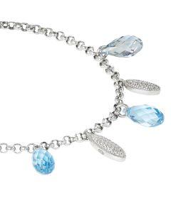 Bracelet in silver with shuttles zirconate and Swarovski