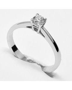 anello solitario ct 0,15 E VVS1 IGI