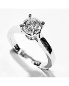 anello solitario ct 0,74 E VS2