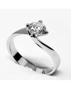 anello solitario ct 0,91 F VS1