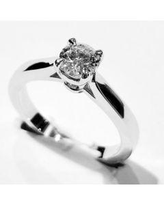 anello solitario ct 0,43 F VVS2
