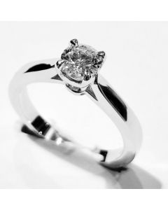 anello solitario ct 0,52 G IF