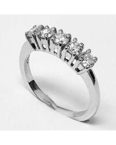 anello fedina con diamanti ct 1,01 G VS