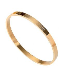Rigid bracelet Gold Plated yellow with smooth surface