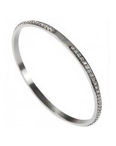 Rigid bracelet rodiatos with strass
