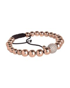Bracelet with boules rosate and central ball zircons
