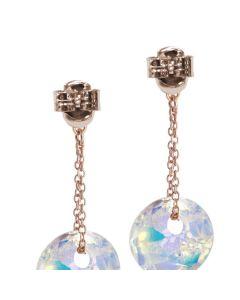 Earrings with Swarovski aurora borealis and zircons