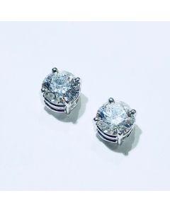 Orecchini punti luce con diamanti ct 2,00 F SI2