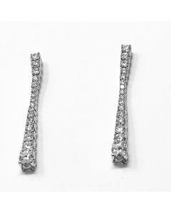 Orecchini Tennis diamanti ct 1,60 G