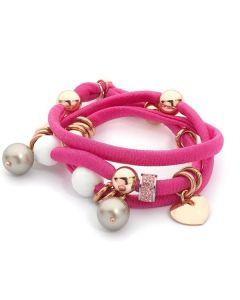 Bracelet threefold i don in lycra fuchsia