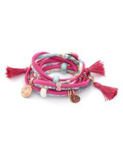 Bracelet in lycra fuchsia by ethnic fantasies
