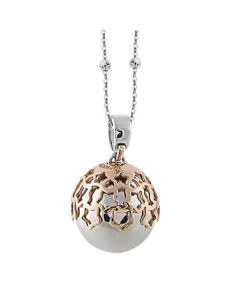 Necklace bicolor with sound pendant and starry tunnel