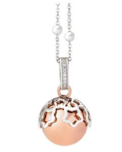 Necklace with pendant sound Rosato, stars and zircons