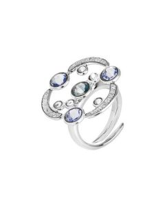 Ring with decoration in glitter and Swarovski