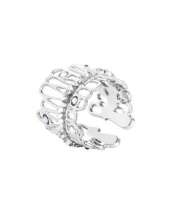 Ring with crystal rock