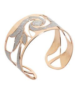 Bracciale rigido in bronzo placcato oro rosa