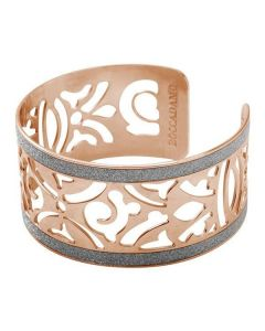 Bracelet in bronze plated pink gold and glitter