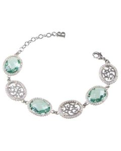 The semirigid Bracelet with crystals briolette and zircons