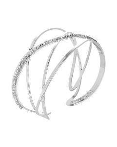 Bracciale rigido con decoro in Swarovski crystal rock crystal