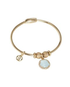 Bracelet with charm in crystal water green