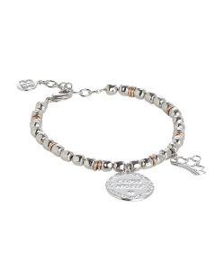 """Bracciale beads con medaglietta """"I love my self"""""""