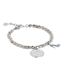 "Bracelet beads with pendant ""I Love Shopping"""