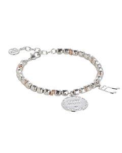 """Bracciale beads con medaglietta """"I love music"""""""