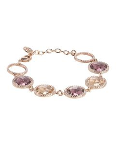 Bracelet with crystals peach, amethyst and zircons