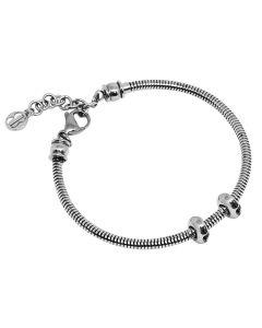 Soft modular 316L steel bracelet