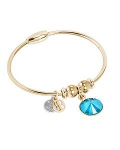 Bracciale con cristallo Swarovski crystal azure blue