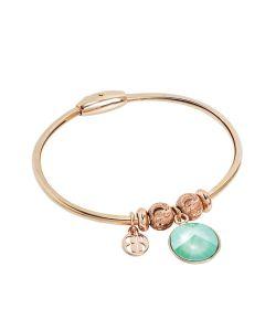 Bracelet with crystal Swarovski crystal mint green