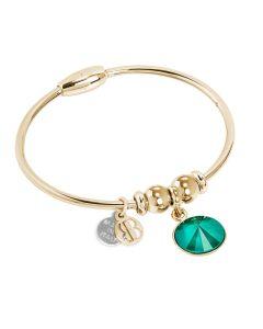 Bracciale con cristallo Swarovsky crystal royal green