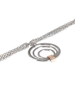Multiwire Bracelet with central pendant and zircons