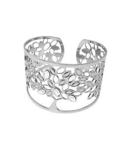 Bracciale rigido con albero della vita e Swarovski crystal