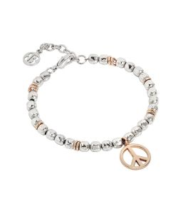 Bracelet beads with a sign of peace pink
