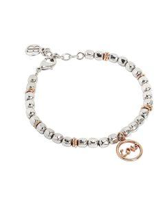 """Bracciale beads con scritta """"love"""" rosata"""