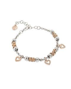 Bracelet beads with hearts rosati of zircons