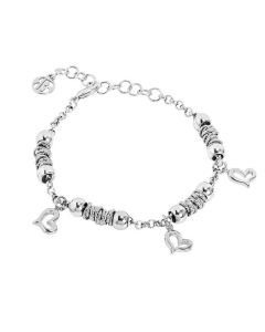 Bracelet beads with smooth hearts
