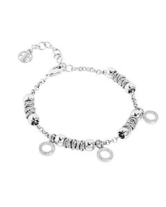 Bracciale beads con cerchi zirconati
