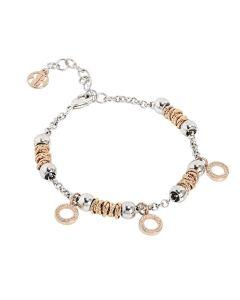 Bracelet beads with circles rosati of zircons