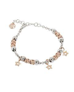 Bracelet beads with stars rosate
