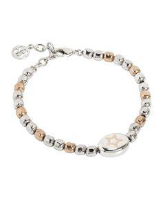 Bracciale beads bicolor con stella laserata
