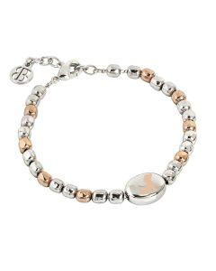 Bracelet beads bicolor with laserato dog
