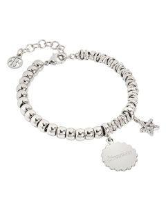 "Bracelet beads with medaglietta ""Success"" and star zirconata"