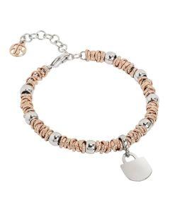 Bracelet bicolor with padlock rodiatos