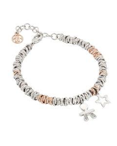 Bracelet bicolor with baby zirconate and Stella