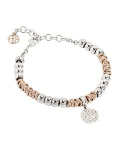 Bracelet with a pendant in the shape of a sphere zirconata