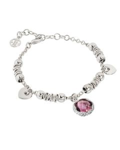 Bracelet With Faceted crystal amethyst
